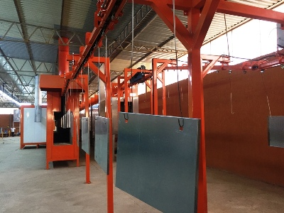 powder coating electrical panels