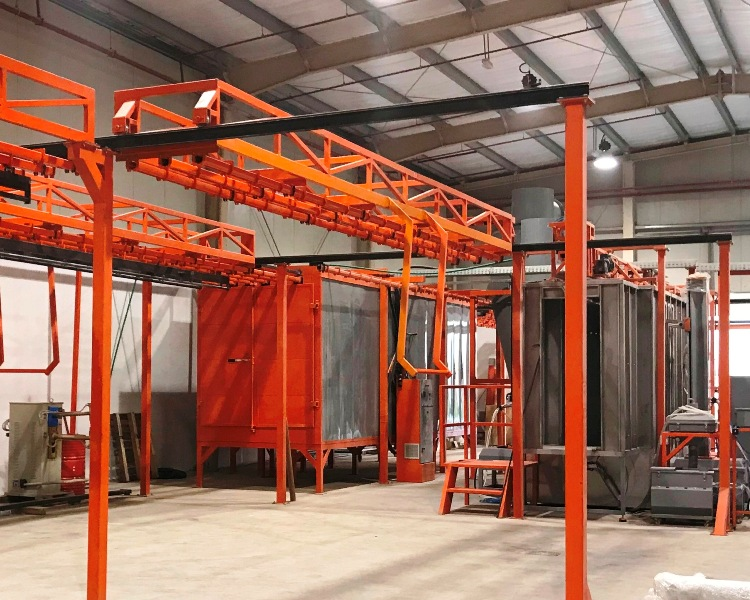 bar transfer powder coating line