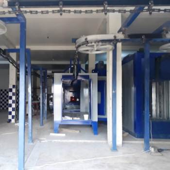 conveyorized powder coating line
